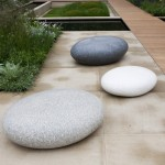 Sculptural pebble seats.