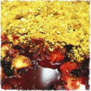 Blackberry and Rhubarb crumble