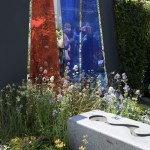 Water rill and acrylic screen