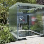 Glass box pavilion