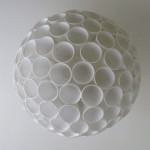 Paper Ball and Polystyrene cup lampshade