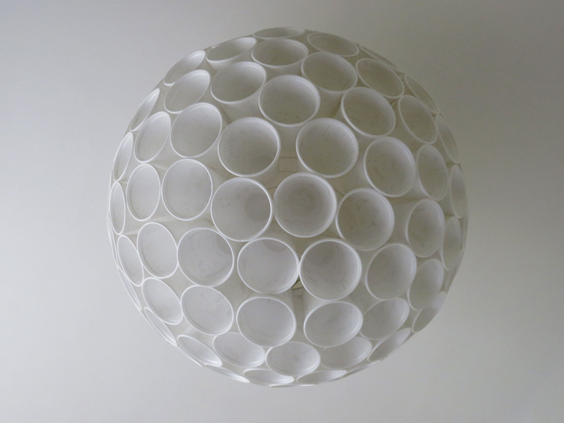Paper ball and polystyrene cup lampshade design biscuits paper ball and polystyrene cup lampshade aloadofball Images